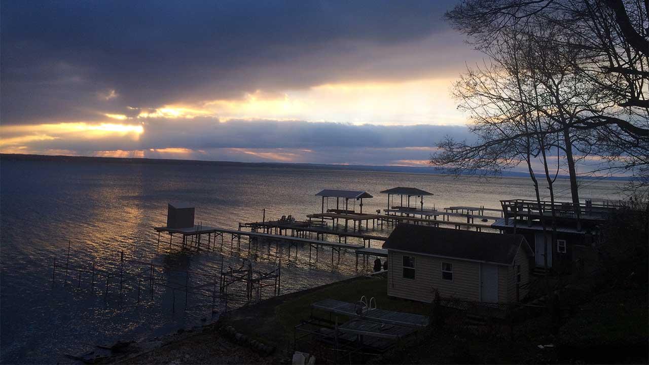Friday's sunrise over Seneca Lake as seen from Geneva (photo)