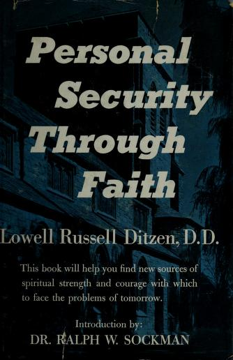 Personal security through faith by Ditzen, Lowell Russell.